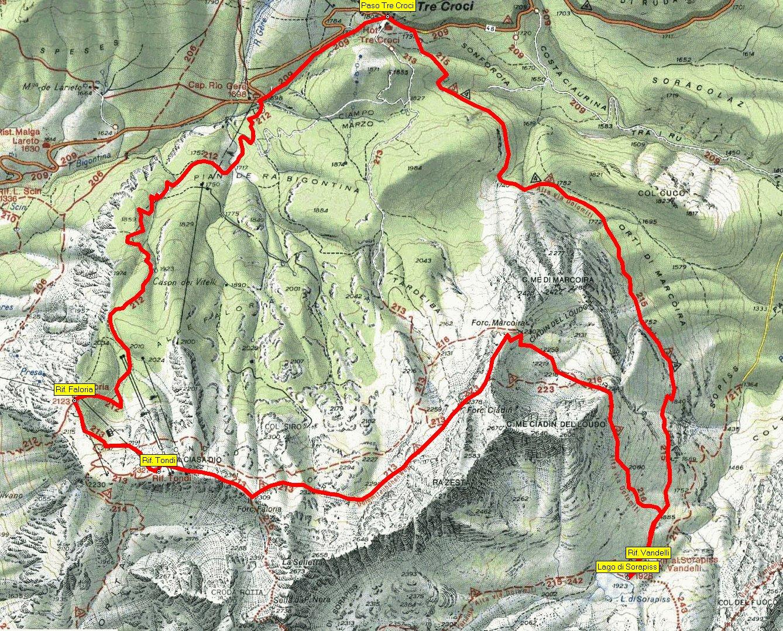 Dolomity Mapa